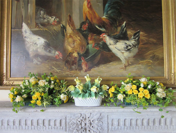 Florals on Mantle