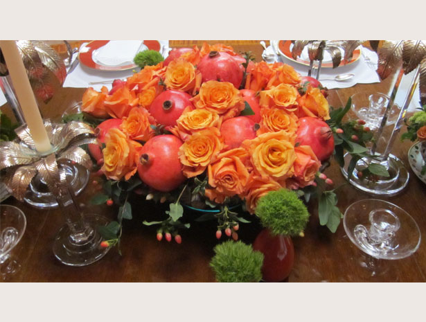 Pomegranate centerpiece