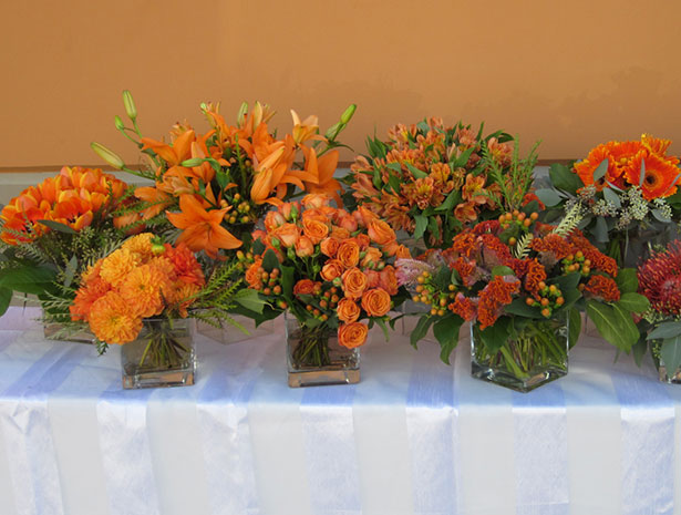 orange themed wedding